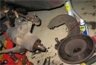 Remove the brake disc